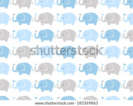 seamless elephant animal cartoon