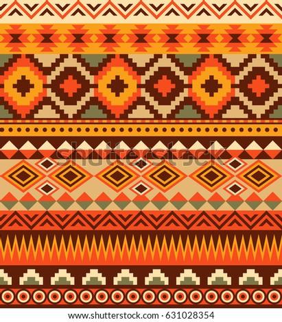 Seamless Ethnic Aztec Pattern Design Vector Illustration EZ Canvas Simple Aztec Pattern