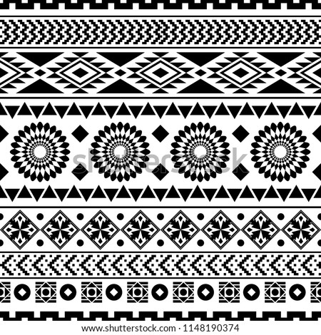 seamless ethnic pattern design. vector illustration. Aztec design