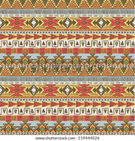 seamless ethnic pattern in...