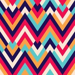 Seamless ethnic zigzag pattern background
