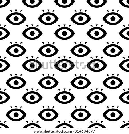 seamless eyes design concept
