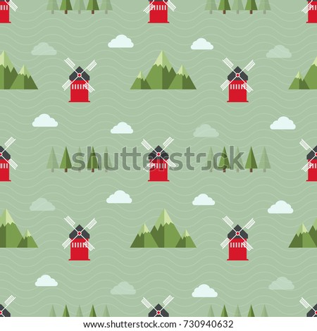 seamless farm pattern