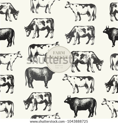 seamless farm vector pattern....