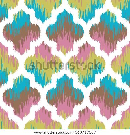 seamless faux fabric moroccan