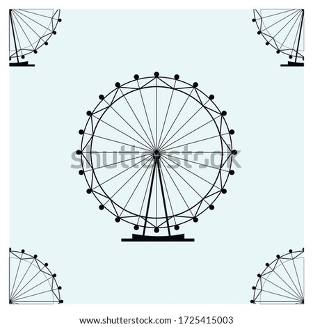 seamless ferris wheel vector