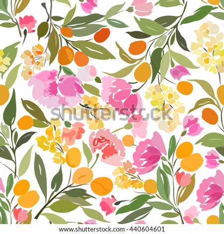 seamless floral abstract