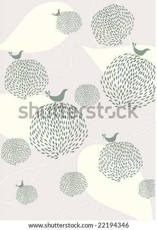seamless floral and bird wallpaper