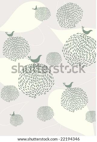 seamless floral and bird wallpaper