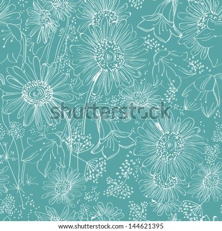 Seamless floral background for design, VECTOR