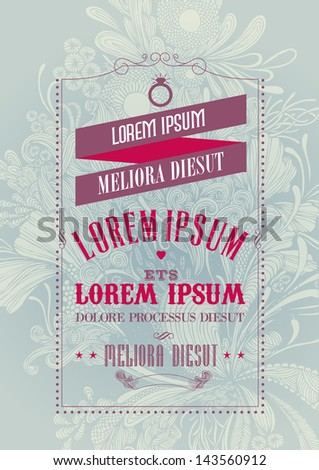 seamless floral background wedding invitation template illustration/vector