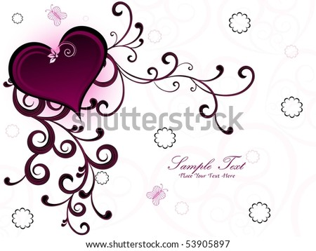 seamless floral background with creative floral pattern heart