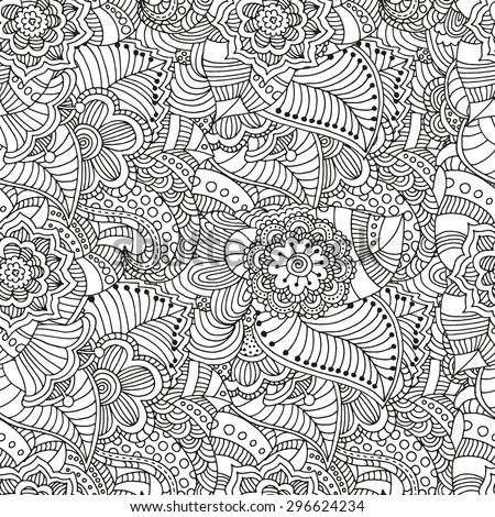 seamless  floral doodle