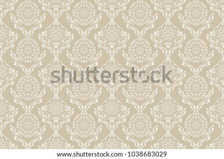 seamless floral ornament on
