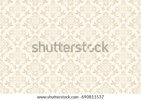 Seamless floral ornament on background. Wallpaper pattern