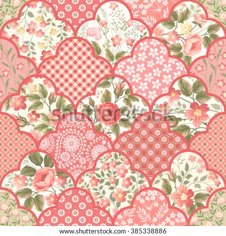 seamless floral patchwork