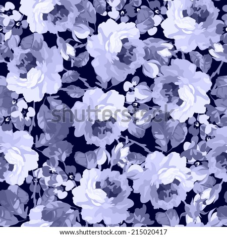 seamless floral patter with