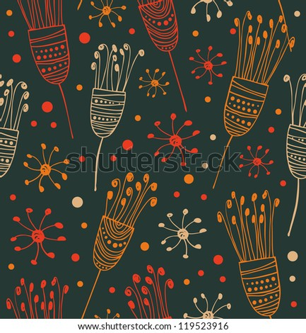 Seamless floral pattern. Abstract background with flowers. Decorative ornate lace texture