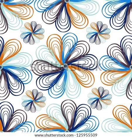 Seamless floral pattern. Abstract vector illustration