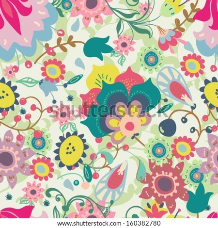 Seamless floral pattern for beautiful design, vector
