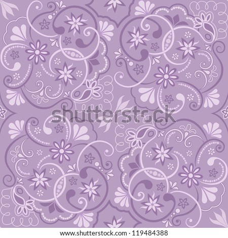Seamless floral pattern for design, vector Illustration