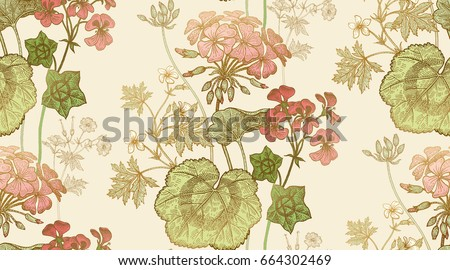 seamless floral pattern. green...