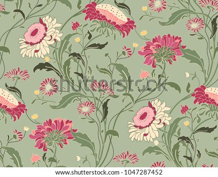 stock-vector-seamless-floral-pattern-in-folk-style-with-wildflowers-leaves-hand-drawn-vector-illustration