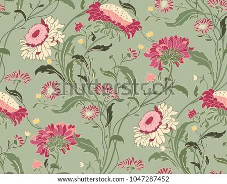 seamless floral pattern in folk ...