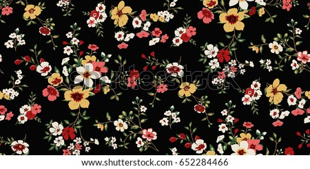 Seamless Floral Pattern in vector