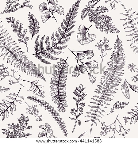 seamless floral pattern in