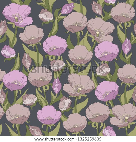 seamless floral pattern of