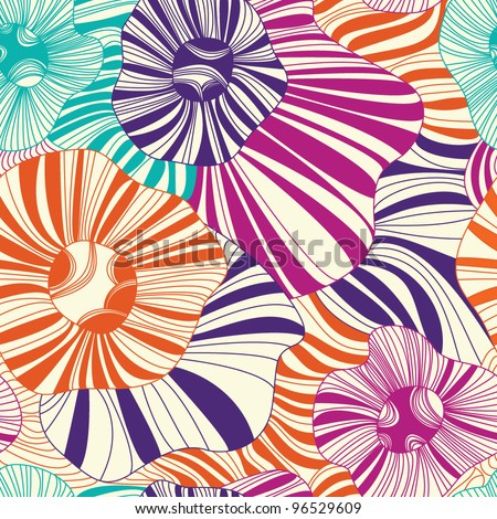 Seamless floral pattern on a light background