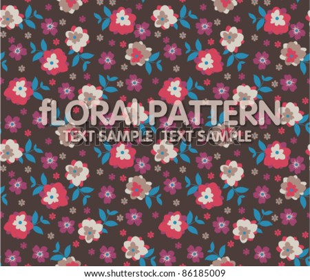 seamless floral pattern on brown background