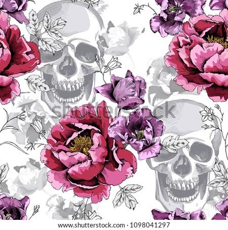 seamless floral pattern pink