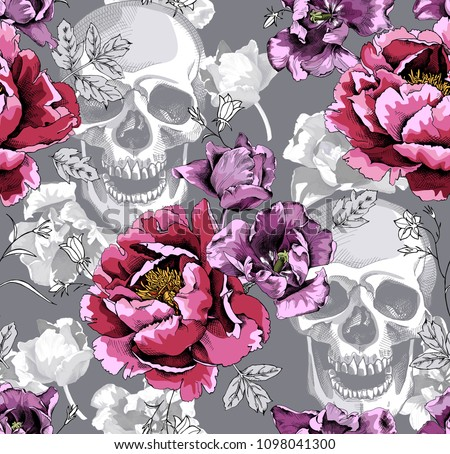 seamless floral pattern pink
