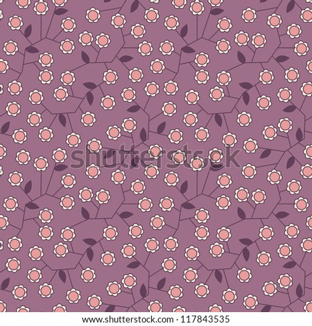 Seamless floral pattern. Stylish repeating texture. Flower design.