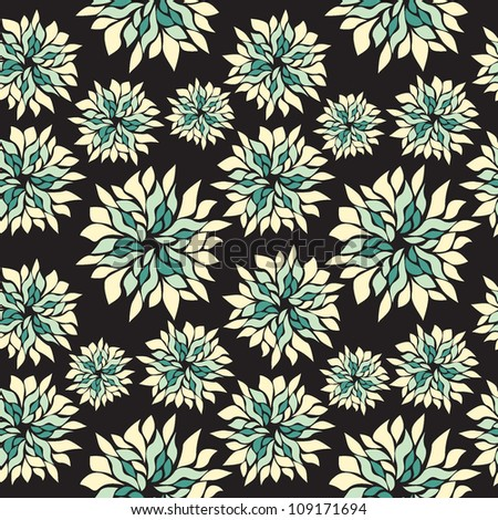 Seamless floral pattern. Texture with green flowers