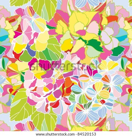 seamless floral pattern with horsensia