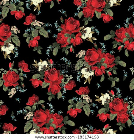 stock-vector-seamless-floral-pattern-with-of-red-roses-on-black-background-vector-illustration