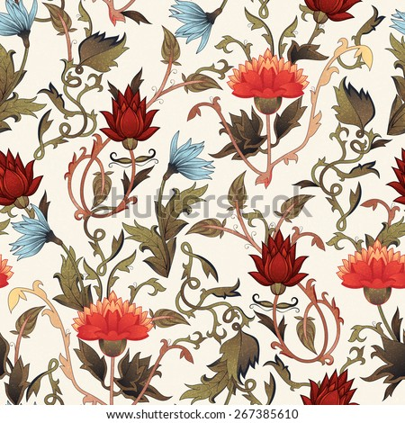 seamless floral pattern with