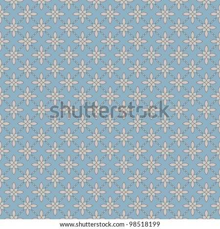 Seamless floral retro background, beautiful vector illustration