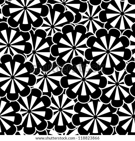 Seamless floral vector pattern EPS8