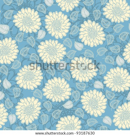 Seamless floral vector pattern,  Wallpaper,  Vector Background
