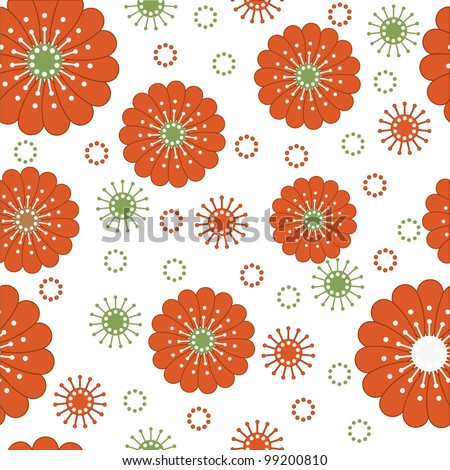 Seamless floral vector template