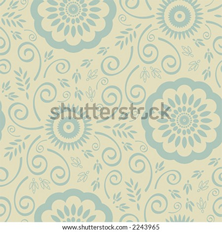floral wallpaper vector. stock vector : Seamless Floral