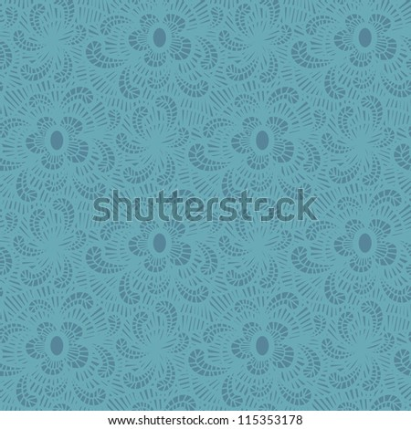 Seamless flower lace pattern. Objects grouped and named in English. No mesh, gradient, transparency used.