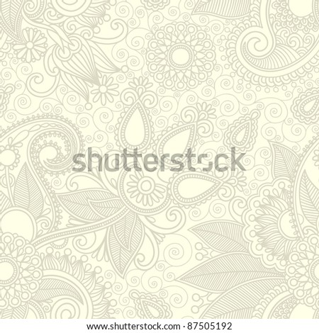 seamless flower paisley design background