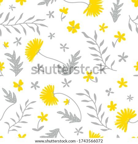 seamless flower pattern flat