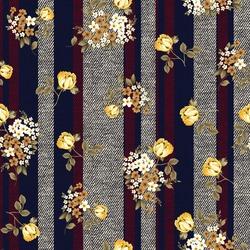 seamless flower pattern on fabric Tex trues