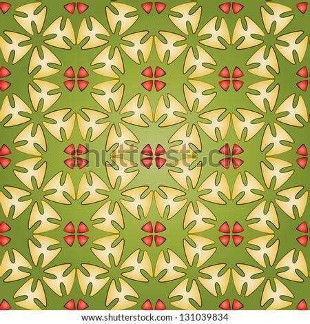 Seamless flower tiling background